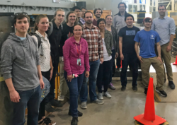 Nuclear Engineering class touring Advanced Light Source