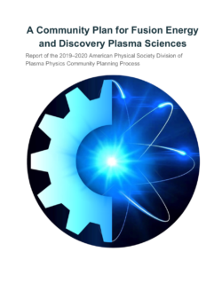 Cover of A Community Plan for Fusion Energy and Discovery Plasma Sciences